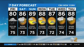New York Weather: CBS2 7/9 Evening Forecast at 6PM