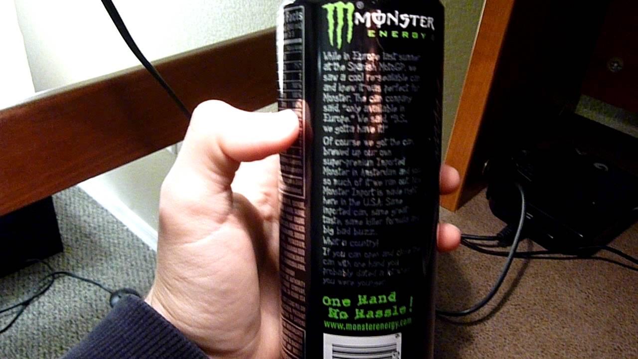 Monster Energy Series >> Monster Energy Import Can Screw Lid - YouTube