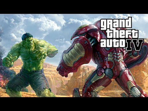 DUELO IRON MAN HULKBUSTER VS HULK - GTA IV MODS