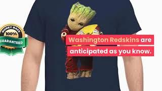 [funny christmas shirts] Groot hugging Washington Redskins shirt, hoodie