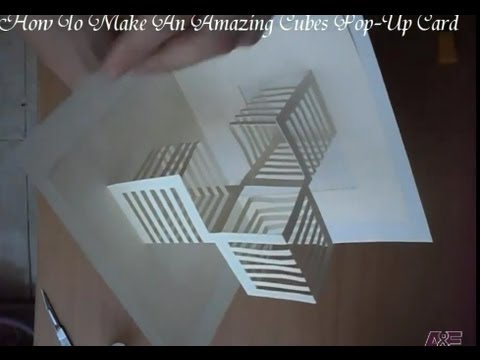 14 How To Make An Amazing Cubes Pop Up Card Origamic Architecture