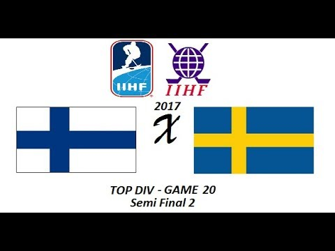 Mundial IIHF 2017 de InLine Hockey - TOP DIV - GAME 20 - SF2 - Finlândia x Suécia