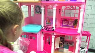 Новый дом Барби Barbie Haus 2017 3 этажа 7 комнат для Барби Путин и Барби распаковка