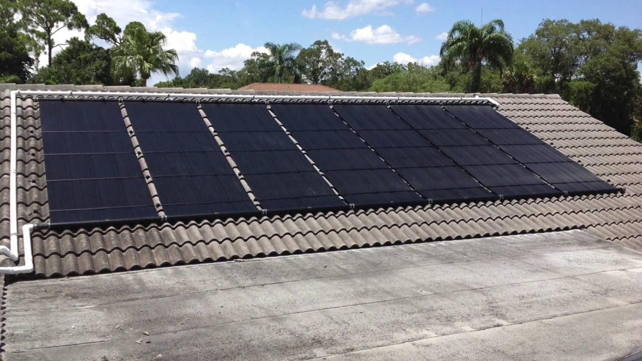 Fort Myers Fl Solar Pool Heating Installation June 2016