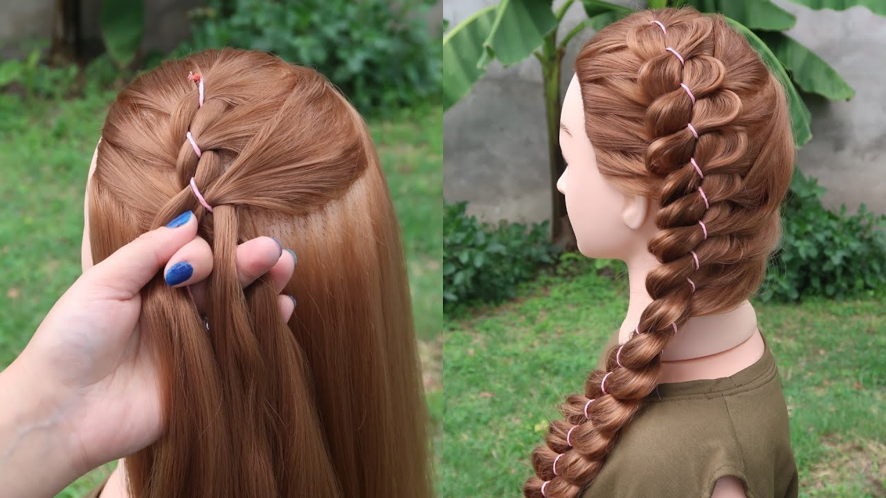 Amazing Hair Transformation - Beautiful hairstyle for School #10