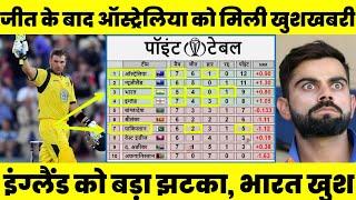 Download ऑस्ट्रेलिया के जीत के बाद पॉइंट्स टेबल में हुआ बड़ा बदलाव, भारत को मिली खुशखबरी,इंग्लैंड को लगा झटका Mp3 and Videos