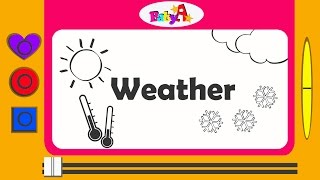 Weather | How to draw sun and cloud | by BabyA Nursery channel