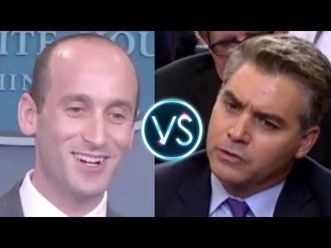 CNN's Jim Acosta HUMILIATED by White House Advisor Stephen Miller at Press Briefing