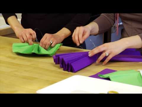 Do It Yourself Tissue Poms for your wedding- How To, DIY Wedding www.ForeverBride.com