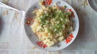 Салат из квашеной капусты. Зимний салат