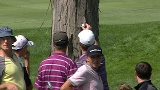 Kevin Streelman barks up the wrong tree on No. 3 at Bridgestone