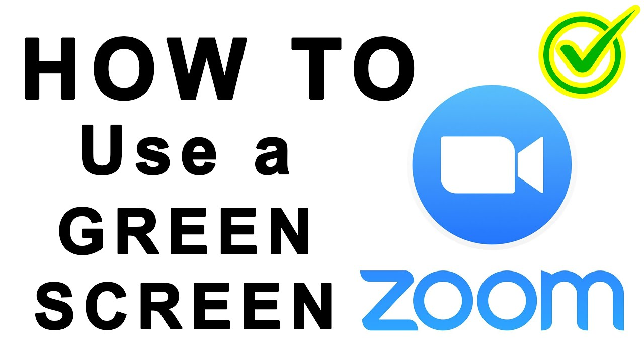 ZOOM: How to Green Screen + Virtual Background - YouTube