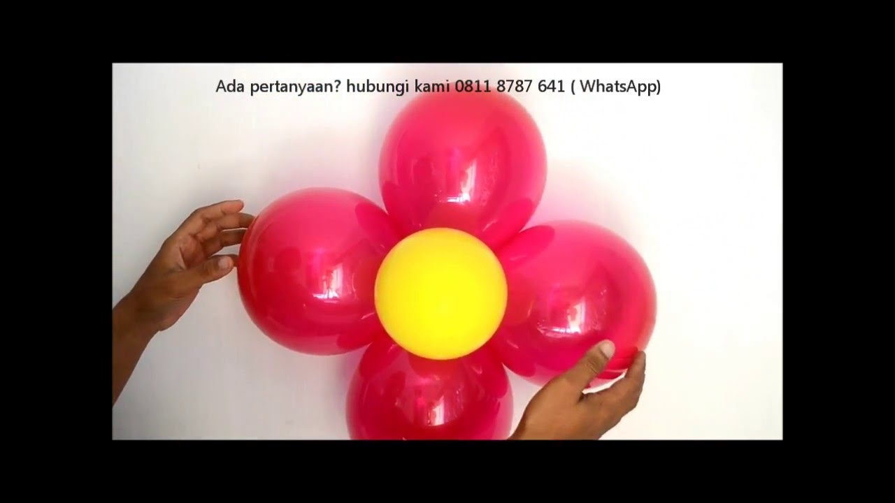 How To Make Super Easy Flower Balloons