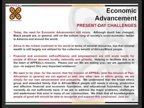 Narrated Slideshow on APPEAL--Enterprise for Pan-African Empowerment featuring a Credit Union