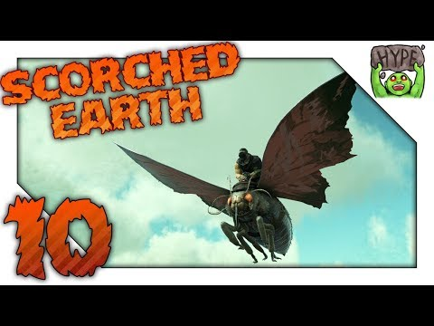 Ark Scorched Earth! Ep 10 | Lymantria THE MOTH | Scorched Earth Vanilla Ark Gameplay