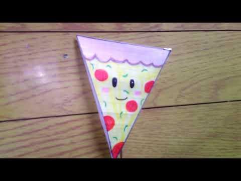 DIY paper squishy pizza 🍕
