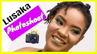 My First EVER Lusaka Photoshoot - In'utu J. Mubanga - ZAMBIAN YOUTUBER