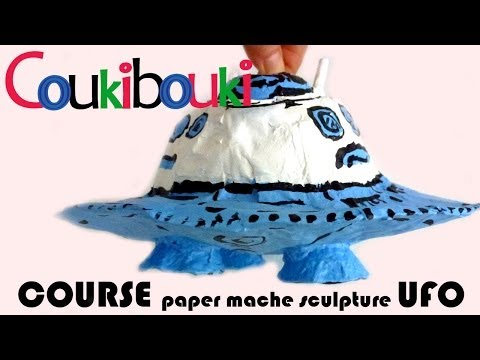 Paper Mache UFO - Artistic Activity for children- craft maki