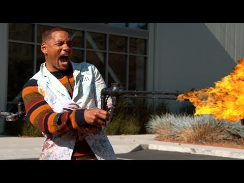 Josh and Ariel in the Morning - Will Smith Plays With A Flame Thrower- Slow Mo Style