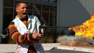We gave Will Smith a Flame Thrower - The Slow Mo Guys