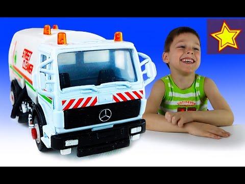 Машинки Welly Мерседес Уборочная Распаковка и обзор игрушки Kids Welly Toys Unboxing