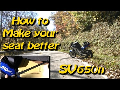 How To Make that Motorcycle Seat Better for Cheap - SV650