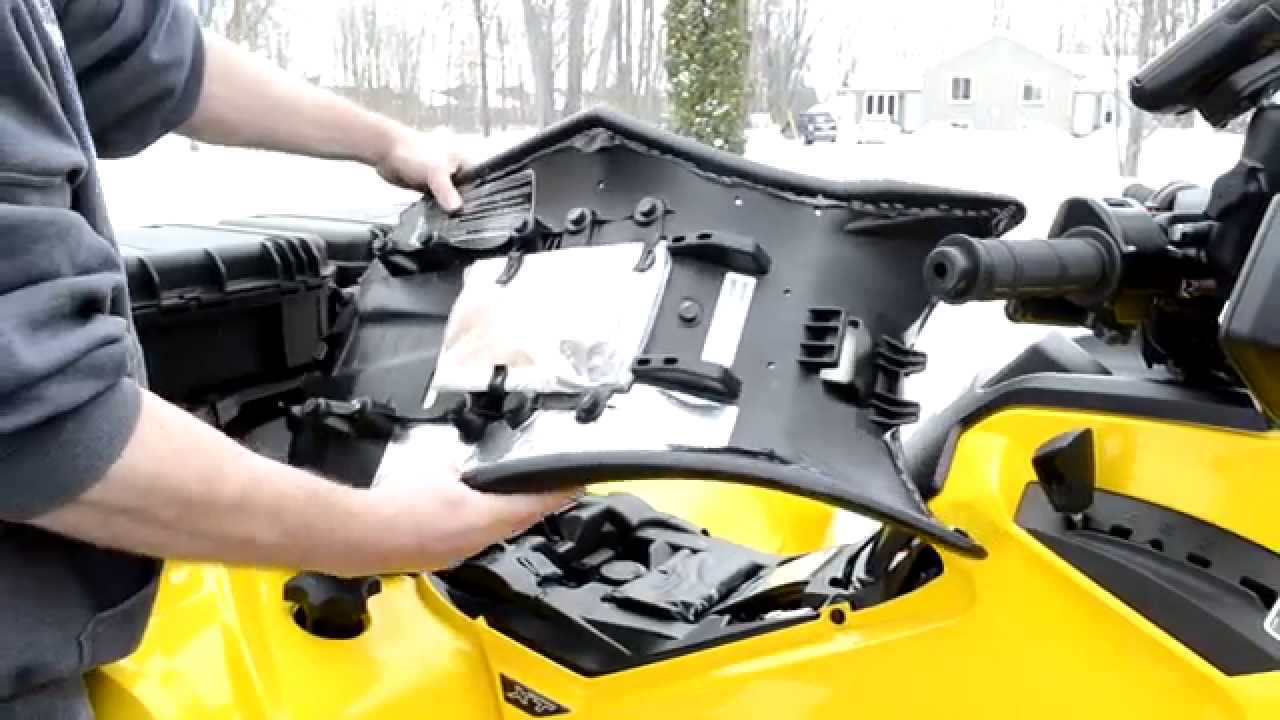 can am g2 outlander atv a look under the hood youtube rh youtube com can am outlander 400 fuse box location can am outlander 800 fuse box location