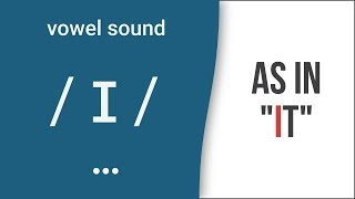 """Vowel Sound /ɪ/ as in """"it""""- American English Pronunciation [UPDATED]"""