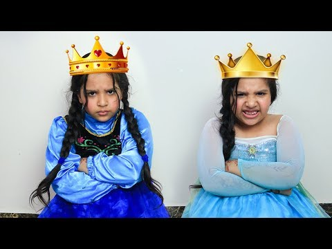 السا ضد انا ! مسابقة ملكة الجمال ! elsa vs anna ! beauty contest battle