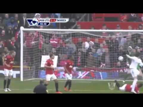 ผลฟุตบอลพรีเมียร์ลีกอังกฤษ  แมนยู 2 -1 สวอนซี