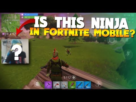 Ninja In Fortnite Mobile? (Sick Gameplay)