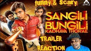 Sangili Bungili Kadhava Thorae Trailer Reaction   Jiiva, Sri Divya,  Atlee   TAMIL