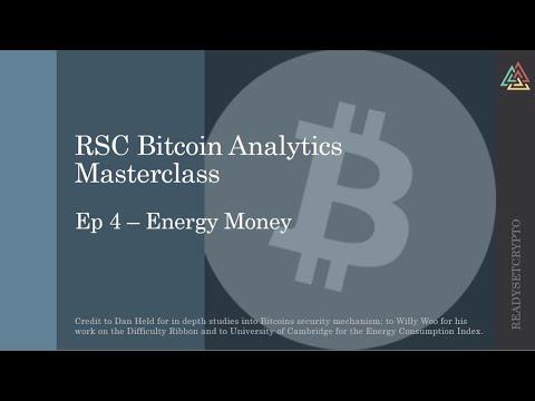 Bitcoin Analytics Masterclass Ep4 - Energy Money