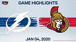 NHL Highlights   Lightning vs Senators - Jan. 04, 2020