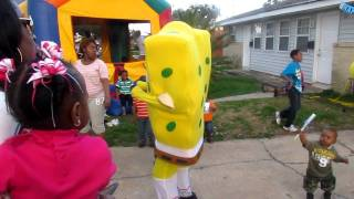 Spongebob Doing The Wobble Dance
