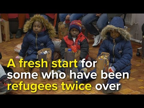 A fresh start for some who have been refugees twice over