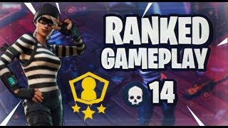 Fortnite Battle Royale - Rank Mode Blitz Solo Showdown Gameplay 14 Bomb Game