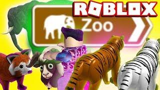 ROBLOX ZOO - Safari sauvage / Animaux de savane. Petting Zoo Lets Play (Family Friendly)