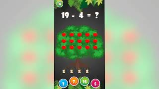 Kids Maths Practice Game - learn subtraction for kids Educational Games for kids - part 1