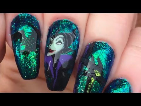 Disney Heroes Villains Collab With Sarah R Maleficent Nails