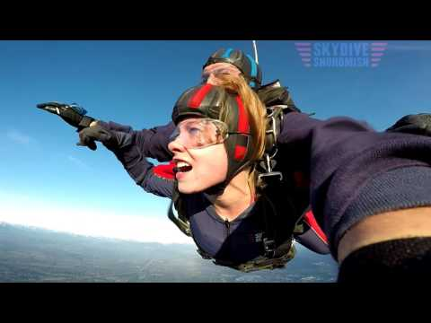 Skydive Snohomish Parachute Wingsuit Flying Sky