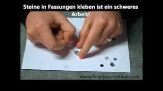 Schmuck herstellen - Technik 8: Kleb- und Similisteine in Fassungen kleben/befestigen Thumbnail