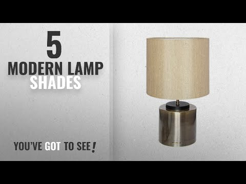 Top 10 Modern Lamp Shades [2018 ]: HAITRAL Modern Minimalist Table Lamp Metal Basic with Fabric