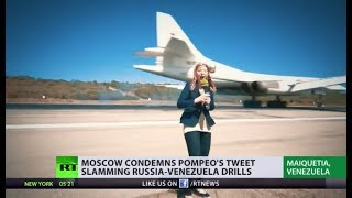 RT correspondent witnesses landing of Russian Tu-160 bombers in Venezuela