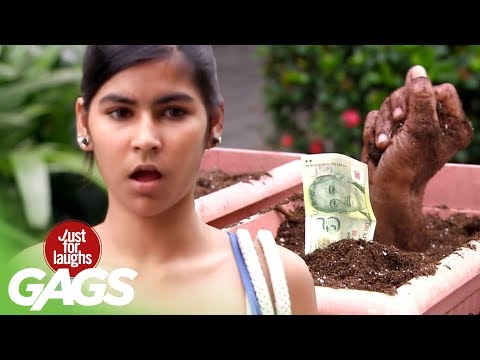 Creepy Hand Protects Cash Prank - JFL Gags Asia Edition