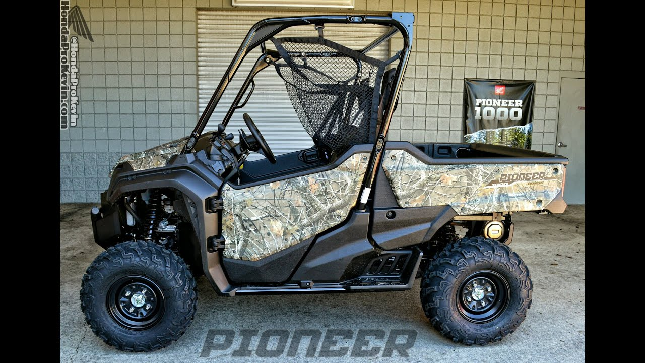 2016 Honda Pioneer 1000 Eps Camo Start Up Walk Around Video Side By Side Atv Utv Sxs 4x4