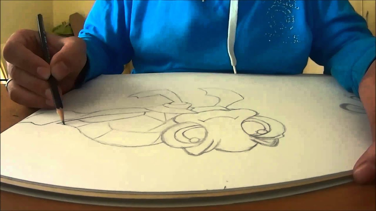 Speed painting pencil sketch finding nemo theme