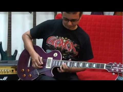 HASEESA GUITAR showroom & MISTY solo note-by-note in slow motion by KARL CROMOK