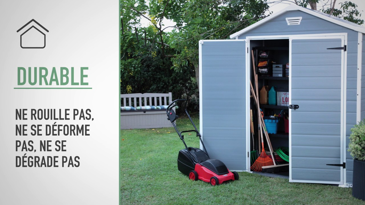 Keter Manor 6x8 Outdoor Garden Storage Shed FR YouTube