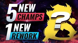 MASSIVE CHANGES: 5 NEW CHAMPIONS + 1 NEW REWORK - League of Legends Season 10